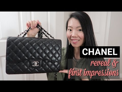 2927a6ab654d CHANEL JUMBO CLASSIC SINGLE FLAP REVEAL & FIRST IMPRESSION REVIEW |  FashionablyAMY