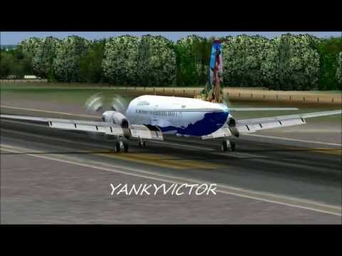 LANDING AT LOS ROQUES AIRPORT VENEZUELA FLIGHT SIMULATOR FS2004 HD