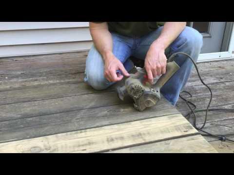 Sanding Wood Decks Video