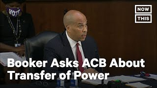 Booker Questions Amy Coney Barrett on a Peaceful Transfer of Power | NowThis