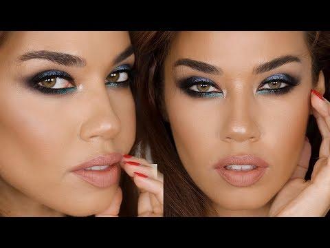 Blue Smokey Eyes Makeup Tutorial | Eman