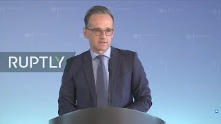 Live: heiko maas gives press statement following alliance for multilateralism video conference