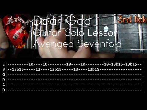 Dear God Guitar Solo Lesson - Avenged Sevenfold (with tabs)