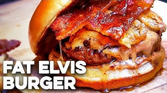 Peanut Butter Burger with Smoked Bacon - Elvis Burger (2018)
