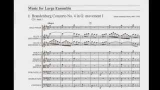 Bach: Brandenburg Concerto No.4 in G major Video Score. (First Movement Only)