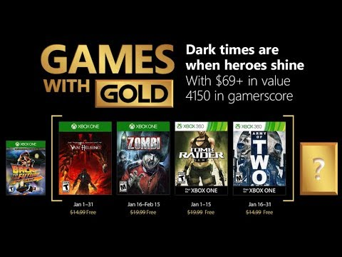 Juegos Con Gold Xbox One Y Xbox 360 Enero 2018 Youtube
