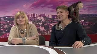 Т. Корнилова, А. Валиев и В. Ким в студии программы