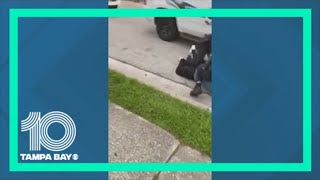 Video shows Sarasota officer with knee on man's neck