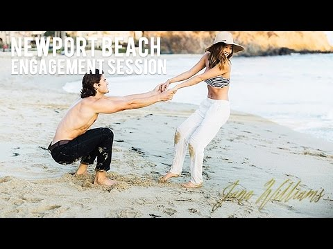 Newport Beach Engagement Session | Behind The Scenes
