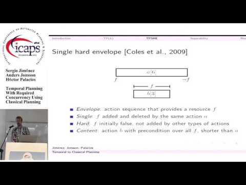 "ICAPS 2015: ""Temporal Planning With Required Concurrency Using Classical Planning"""