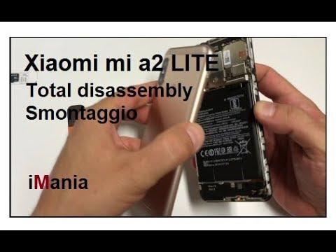 Xiaomi MI A2 LITE disassembly screen battery smontaggio! schermo batteria vetro lcd (redmi 6 pro)