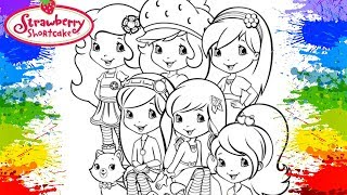 STRAWBERRY SHORTCAKE coloring book How to color Paint colouring pages for kids tv Art Learn colours
