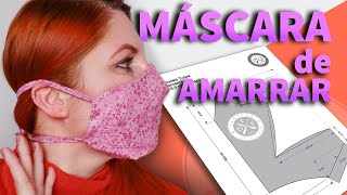 Máscara de Proteção de Amarrar sem Elástico