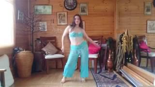 Bellydance Practice to Talking Drum (Drum Solo In Heels!)