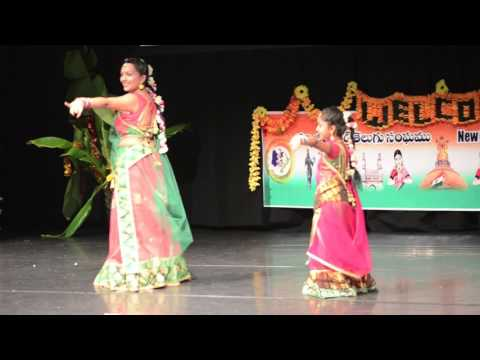 Hiral and mum performing @ NZTA Ugadi   2013