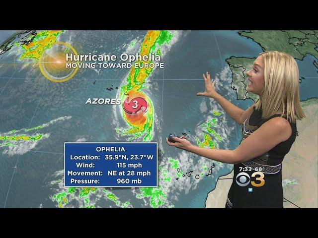 Hurricane Ophelia Aiming For Ireland