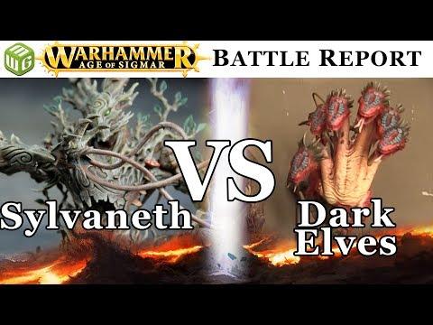 Sylvaneth vs Dark Elves Age of Sigmar Battle Report - War of the Realms Ep 169