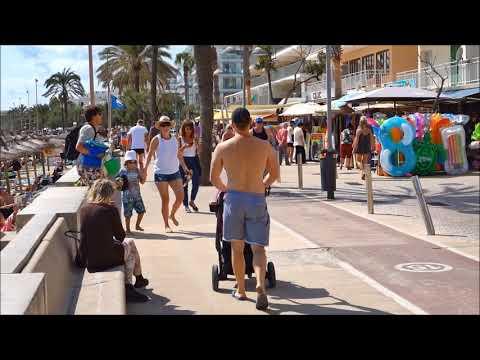 Aussicht Auf Cala Millor Strand & Promenade Okt.  2017 HD