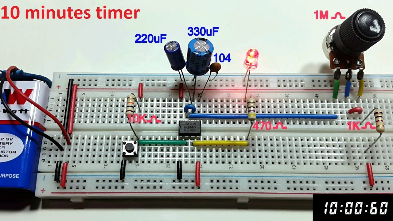 10 Minutes Variable Monostable Multivibrator Using 555 Timer In Operation Of Mode Ic Tamil Englishtamil Electronics