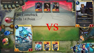 LoR Mobile Indonesia Epic Comeback Fizz vs Quinn beda 14 Point !