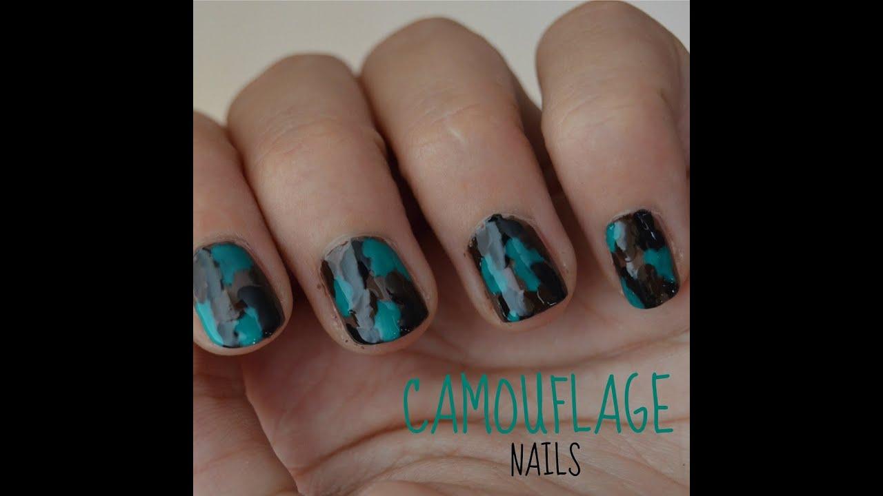 Nail Art On Youtube: NAIL ART TUTORIAL ♡ CUTE CAMOUFLAGE NAILS