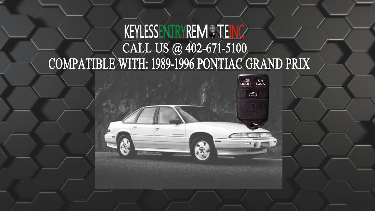 service manual  1990 pontiac grand am door key lock