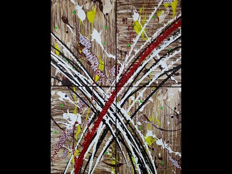 "Abstract Painting Art Demo - ""Insanis Locis"" Embrace The Matrix"