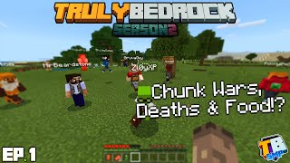Chunk Wars & My Plans | TrulyBedrock Season 2 [#1] | Minecraft Bedrock Edition SMP Server