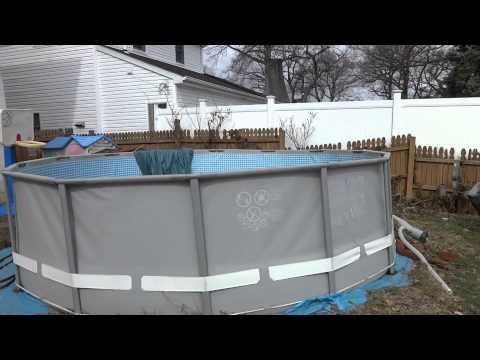 Ground Prep And Intex Ultra Frame Pool Installation Doovi