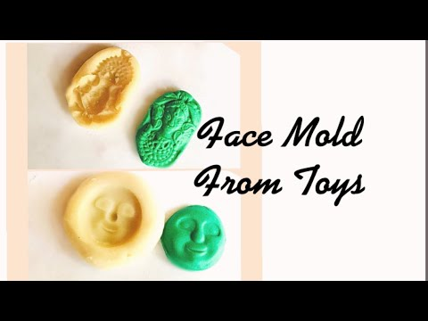 How Making Face Molds From Toys || Sculpey Mold Maker || Terracotta