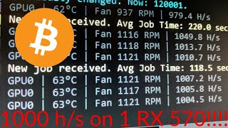 I perfect the recipe for 1,000 h/s! (Cryptonight with RX570)