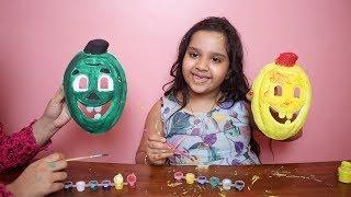 تحدي تلوين ب3 الوان! على قناع مضحك! شفا  ! 3Marker Mask Challenge! funny masks