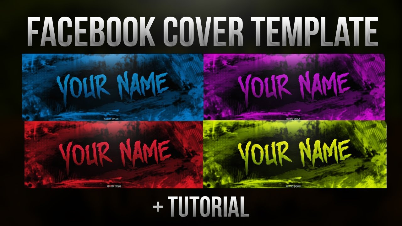free facebook cover template tutorial photoshop road to 300 subs