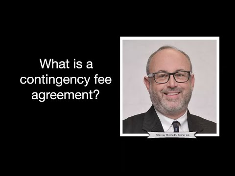 Chicago attorney, Mitch Sexner, explains what a contingency fee agreement is and how it works in a personal injury / medical malpractice case.