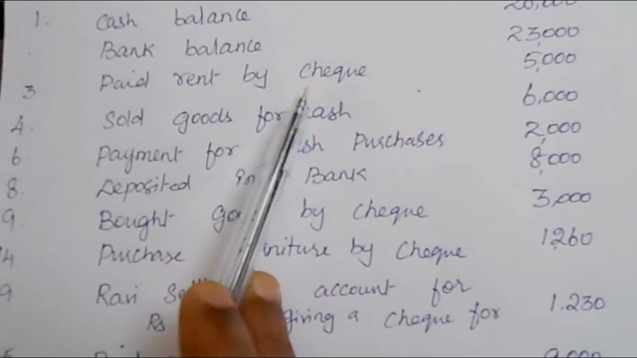 triple column cash book with solution cash book tutorial