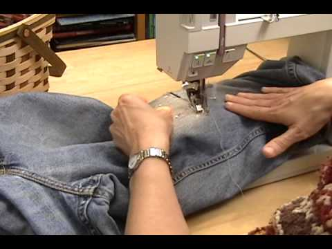 PatchingJeanswmv YouTube Best How To Patch Jeans Without A Sewing Machine