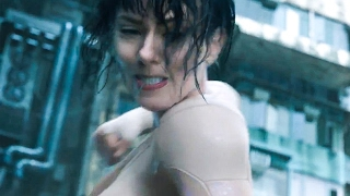 GHOST IN THE SHELL 'Water Fight' Movie Clip + Trailer (2017)