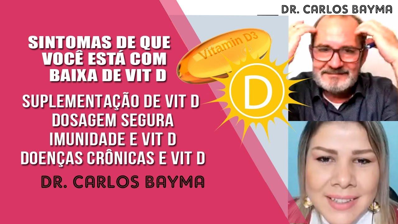☀ SUPLEMENTAÇÃO DE VIT. D - DR. Carlos Bayma