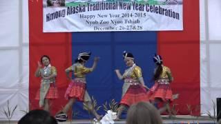 Hmong Alaska New Year 2014-2015 (alaska goldenstar) dancing