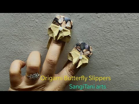How to make cute butterfly slippers | Origami paper slippers | diy Tutorial