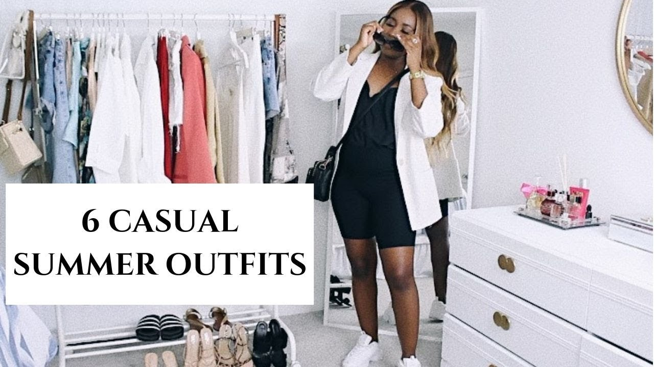 CASUAL SUMMER OUTFITS 2019  HOW TO STYLE & TRY ON  SIDIA CHIN 4