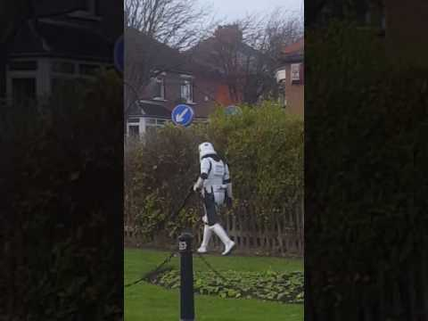 Stormtrooper in ferryhill 😂