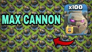 100 Max Golem VS 182 Max cannon l CLASH OF CLANS