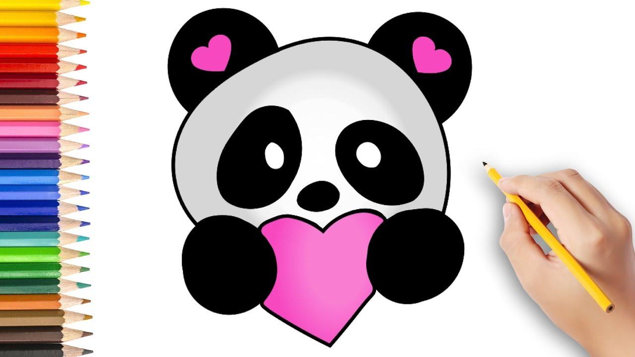 Sevimli Panda Nasil Cizilir How To Draw A Cute Panda Youtube