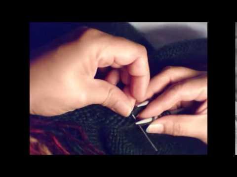 Islandpullover / Islandjacke, Unterarm Im Maschenstich Verbinden