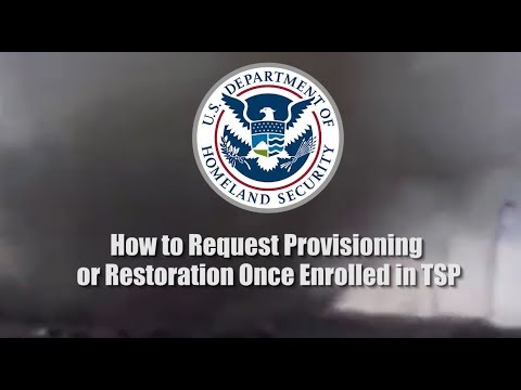 How To Request Provisioning Or Restoration Once Enrolled In TSP