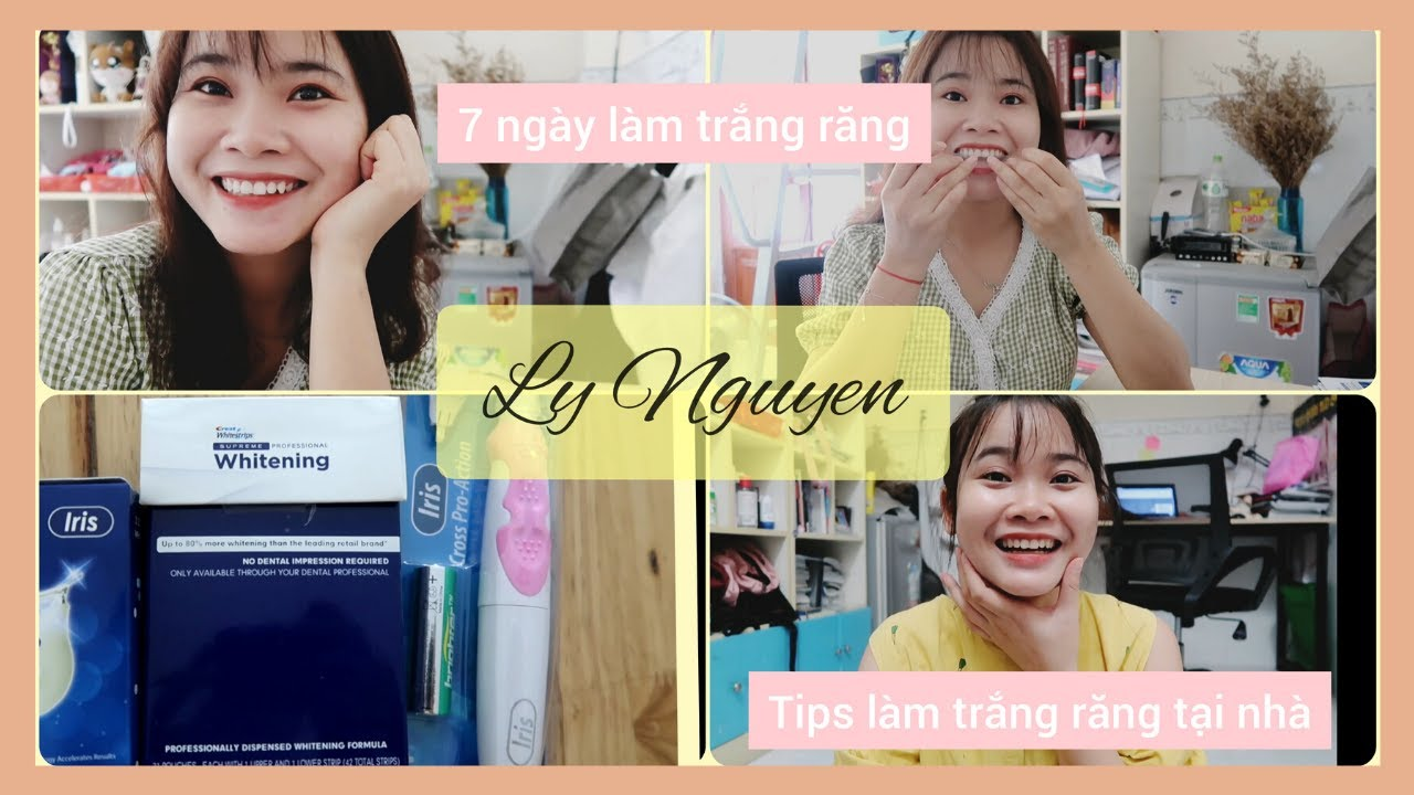 LÀM TRẮNG RĂNG TẠI NHÀ |  Miếng dán trắng răng Crest Supreme Professional Whitening | Ly Nguyen