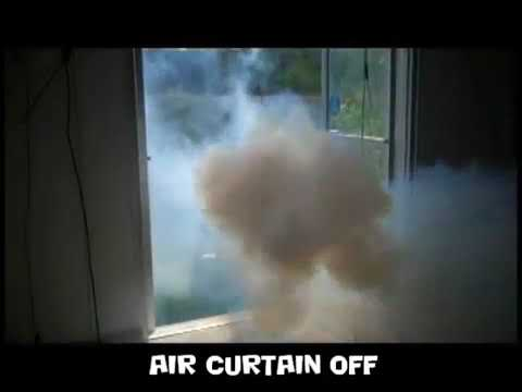 How an Air Curtain Works – Berner Smoke Test