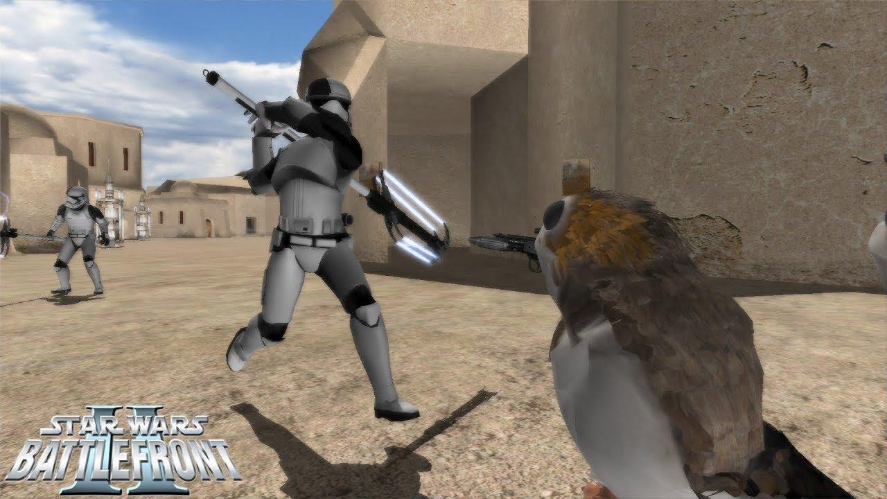Star Wars Battlefront 2 Mod | Star Wars: A New Frontier | Porgs vs First  Order