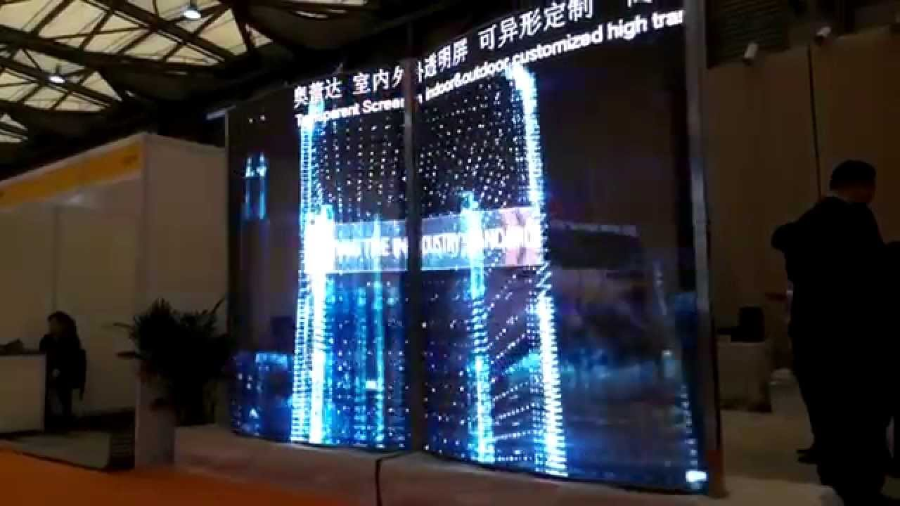 See Through Glass See Through Transparent Led Screen Glass Display Youtube